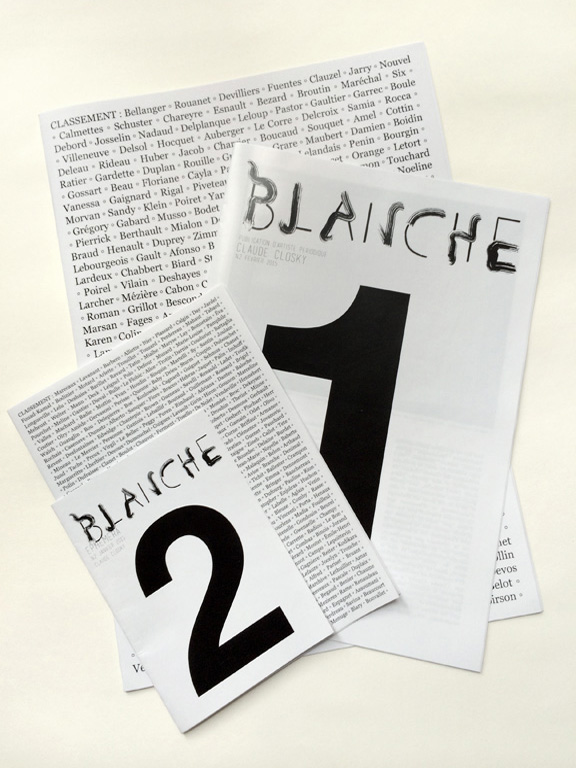 Claude Closky, 'Classement [Position],' 2014, Toulouse, Revue Blanche, 8 pages 35 x 25 cm, cover 28 x 20 cm, 8 pages 21 x 15 cm, cover 15 x 10,5 cm.